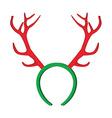 Reindeer horns vector image