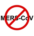 Stop Mers Corona Virus sign vector image