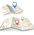 Maps with points vector image vector image