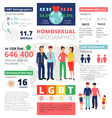 Homosexual Infographics Template vector image