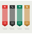 Vertical design template infographics vector image vector image