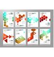 Set of Brochure templates Flyer Designs or vector image