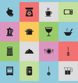 set of 16 editable restaurant icons includes vector image