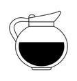 coffee beverage in mug icon image vector image