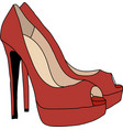 Red High Heels Shoes vector image