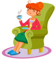 relaxing woman vector image
