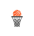 Basket and ball logo vector image