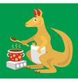 kangaroo chef vector image