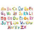 Alphabet characters vector image