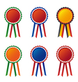Collection of flag cockade vector image