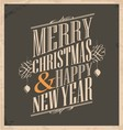 Christmas card template on old paper texture vector image