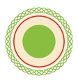 Circle Lacy Christmas Label Icon Flat Isolated on vector image