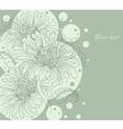 flowers backgr vector image