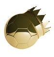 golden football or soccer ball with crown photo vector image