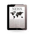 news tablet vector image