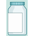 Pharmaceutical plastic bottle vector image