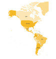 political map of americas in four shades of orange vector image