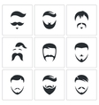 Retro Mens Hair Styles icon set vector image