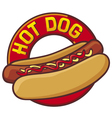 hot dog label vector image