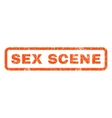 Sex Scene Rubber Stamp vector image