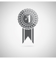 black award icon vector image