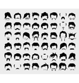 set hair mustache beard vector image