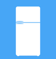 Refrigerator icon isolated on the blue background vector image