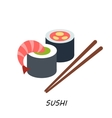 Delicious Sushi Set food icons Japanese food vector image