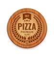 pizza restaurant label vector image