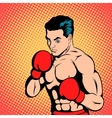 Boxer concept comics style vector image