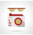 Glasses and camera flat color design icon vector image