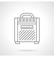 Amplifier for guitar flat line icon vector image