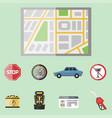 auto transport motorist icon symbol vehicle vector image