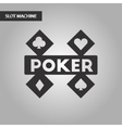 black and white style logotype poker vector image