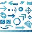 blue arrows sign vector image