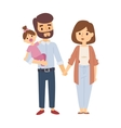 Family portrait vector image