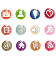 Grunge icons vector image