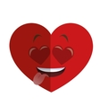 heart eyes heart cartoon icon vector image