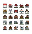 house unique icon logo vector image