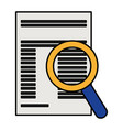 paper document with magnifying glass vector image