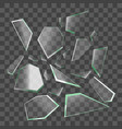 realistic shards of broken glass vector image