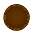 Round leather badge vector image