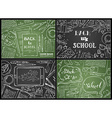 set of chalk Back to School backgrounds vector image