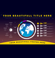 space infographics vector image