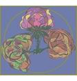 Three flower on purple background vector image