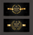 Vip golden invitation template vector image