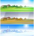 Village season vector image