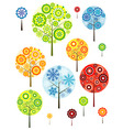 four seasons abstracts trees vector vector image vector image