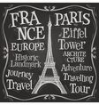 Paris logo design template France or vector image