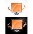 orange computer monitors vector image vector image